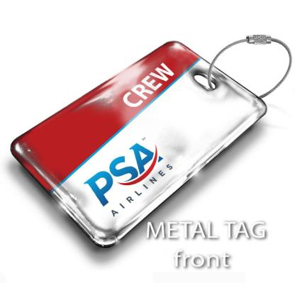 airplaneTees PSA Airlines Logo Luggage Tag 1