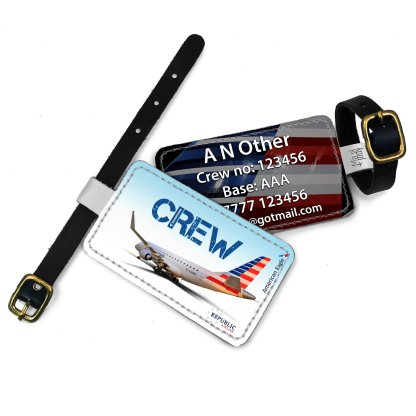 airplaneTees Republic Airline E170 American Eagle Luggage Tag 3