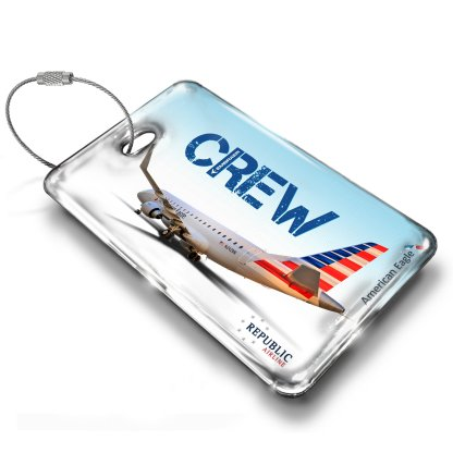 airplaneTees Republic Airline E170 American Eagle Luggage Tag 1