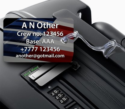 airplaneTees Republic Airline E170 American Eagle Luggage Tag 7