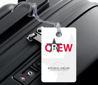 airplaneTees Republic Airline Logo Portrait Luggage Tag 3