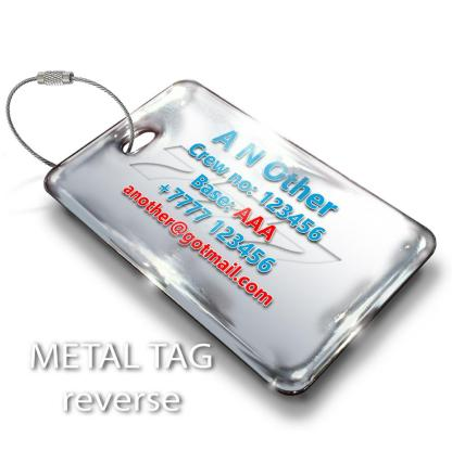 airplaneTees American Airlines B777-300 Luggage Tag - Landscape 3