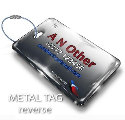 airplaneTees American Airlines Logo Luggage Tag 2 2