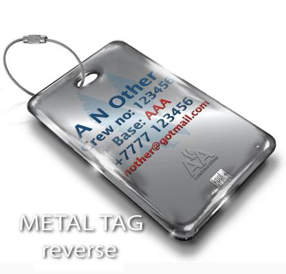 airplaneTees American Airlines OLD LOGO Luggage Tag - Portrait 3