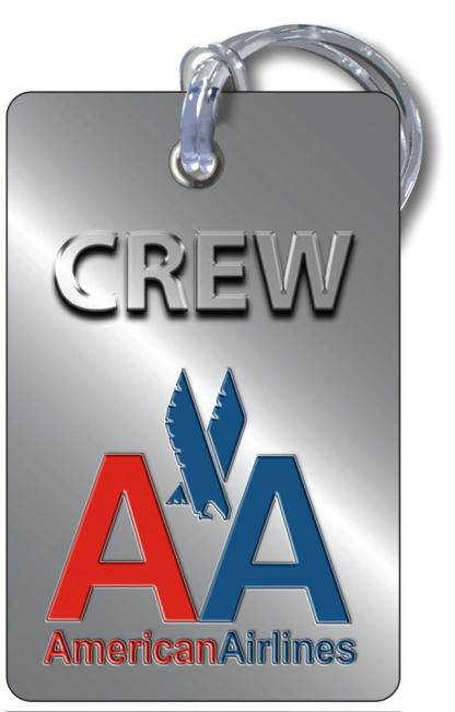 airplaneTees American Airlines OLD LOGO Luggage Tag - Portrait 4