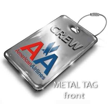airplaneTees American Airlines OLD LOGO Luggage Tag - Portrait 2