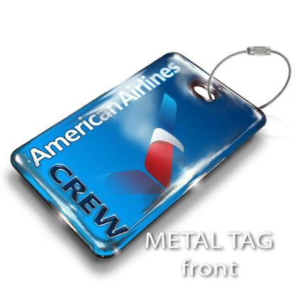 airplaneTees American Airlines Logo Luggage Tag - Landscape 1