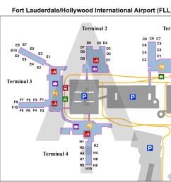 fort lauderdale fort lauderdale hollywood international fll airport terminal map [ 1400 x 958 Pixel ]