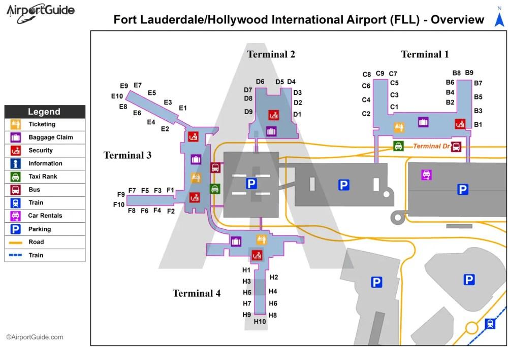 medium resolution of fort lauderdale fort lauderdale hollywood international fll airport terminal map