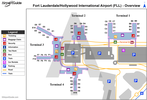 small resolution of fort lauderdale fort lauderdale hollywood international fll airport terminal map
