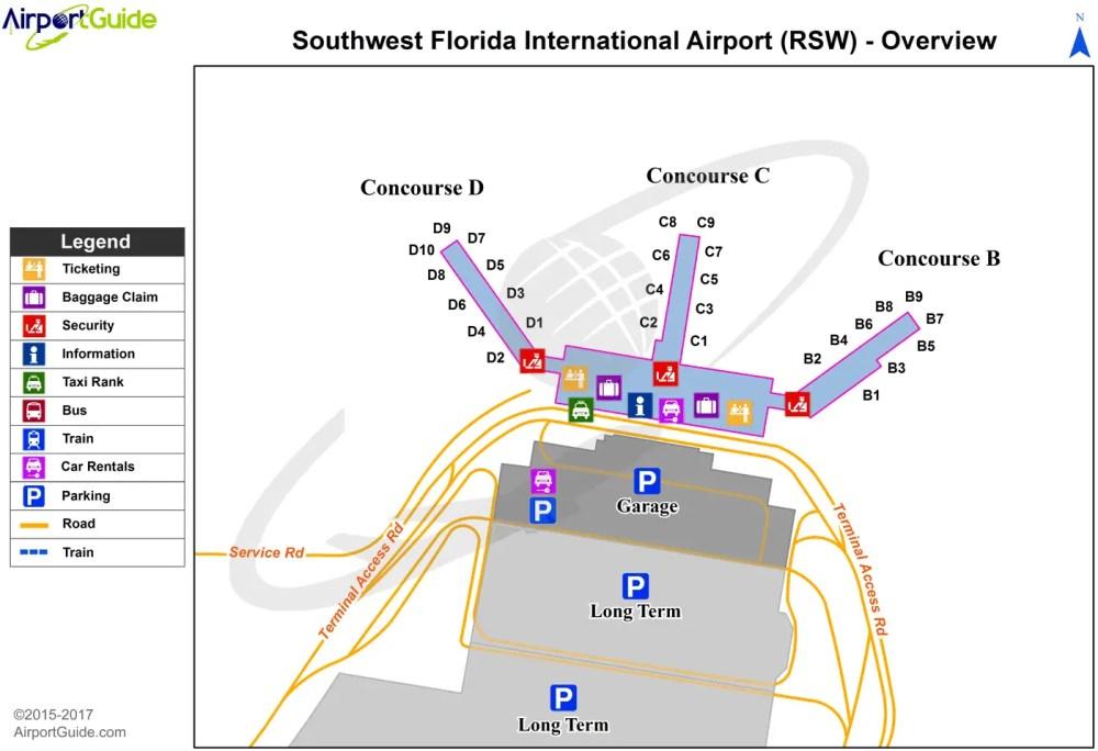 medium resolution of fort myers southwest florida international rsw airport terminal map