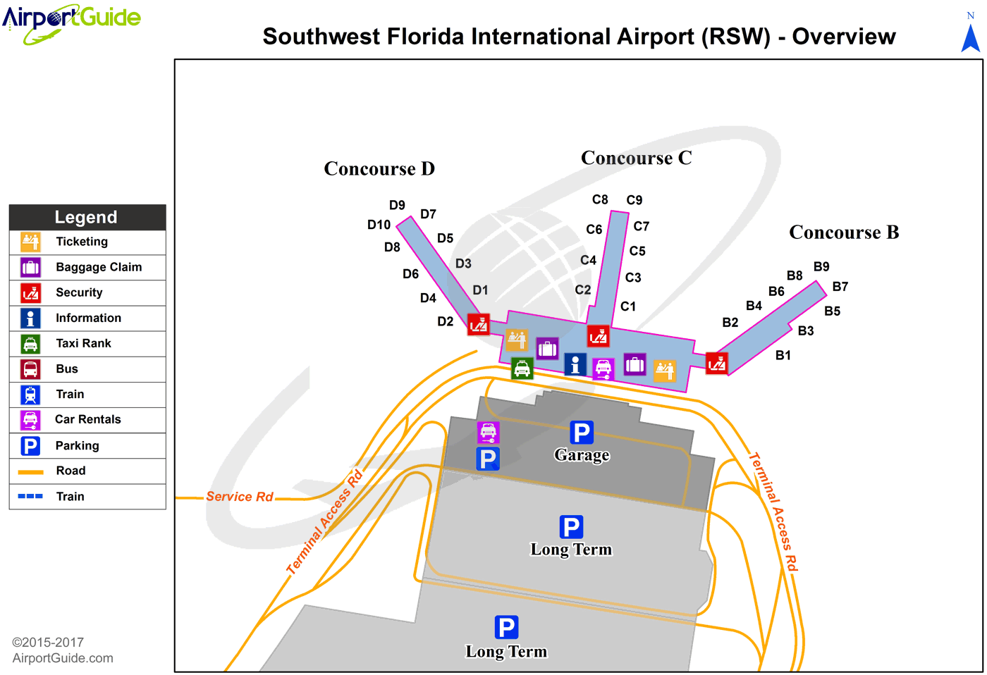 hight resolution of fort myers southwest florida international rsw airport terminal map