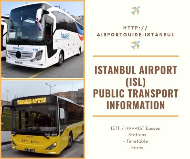 istanbul airport (isl) public transportation service
