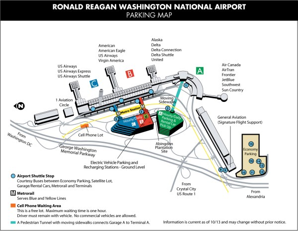 DCA Parking Reagan National Airport Parking Guide