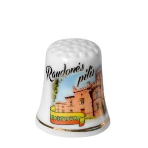 Porcelianinis antpirštis RAUDONĖS PILIS