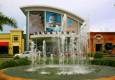 Fountain in front of entrance to Dadeland