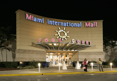 Miami International Mall food court entrance