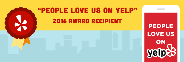 'People Love Us On Yelp' 2016 Award Recipient Badge