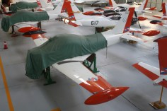 Put down to bed for the night. Some of the fleet at the EMA's hangar. (Emilio Sanni)