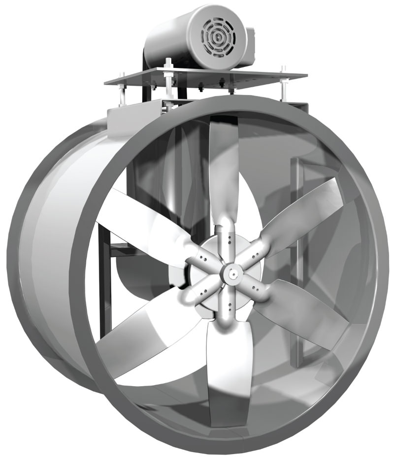 Wall Mounted Direct Drive Fan Motor With Propeller : Loren cook company air pro inc