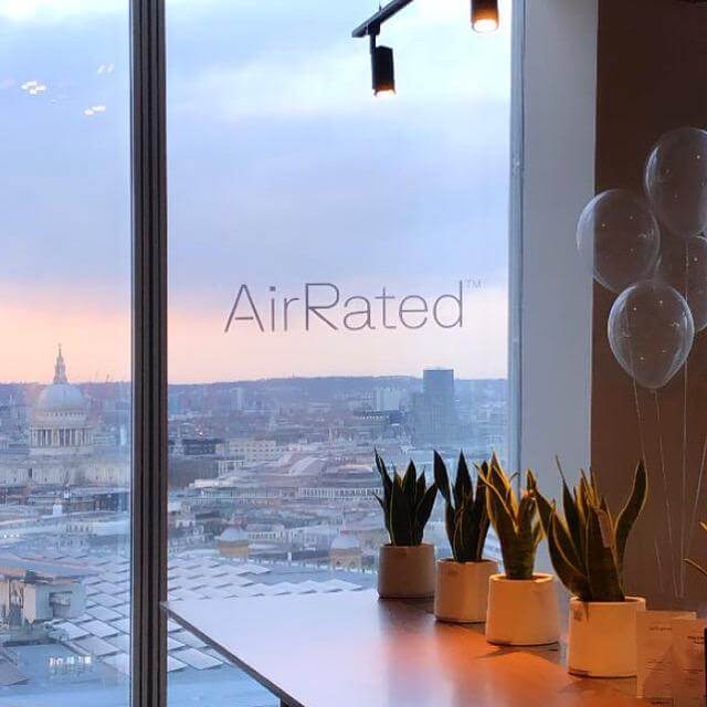 Sunset in The Shard at the AirRated launch party