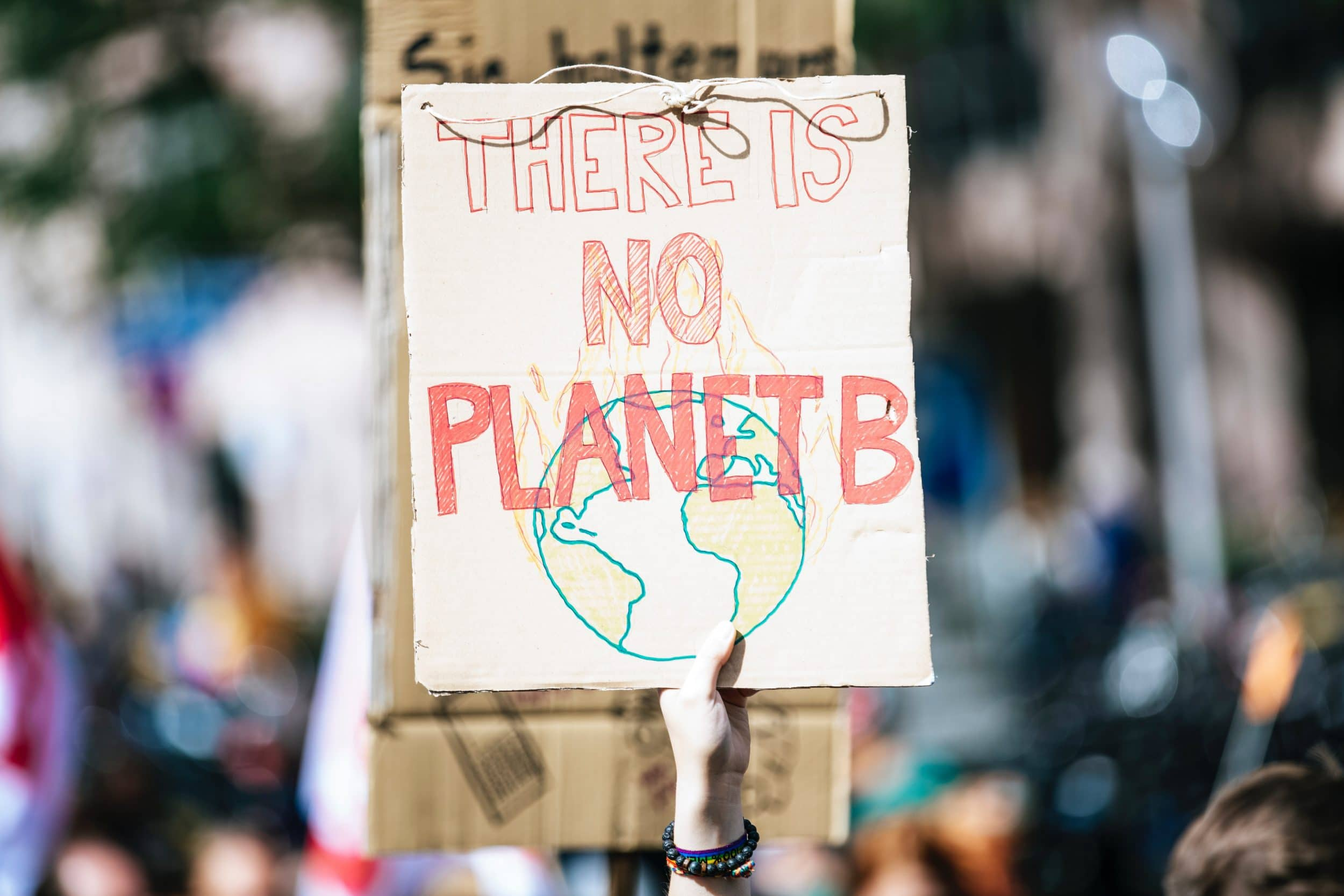 Placard reading 'There is no planet b'
