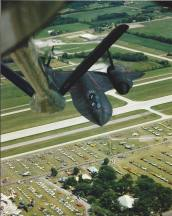 SR-71 refueling from KC-135 low level airshow pass