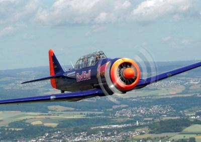 T-6 von Walter Eichhorn, Mitglied der Living Legends of Aviation auf der Airshow Breitscheid 2020