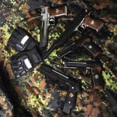 pistolas marui biohazard