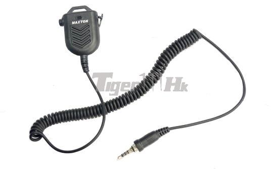 Maxton MT66 Bungee Wire PTT Speaker Microphone-Black