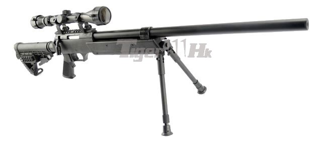WELL MB13D Silencer Sniper Rifle w/ Bipod & Scope(Black