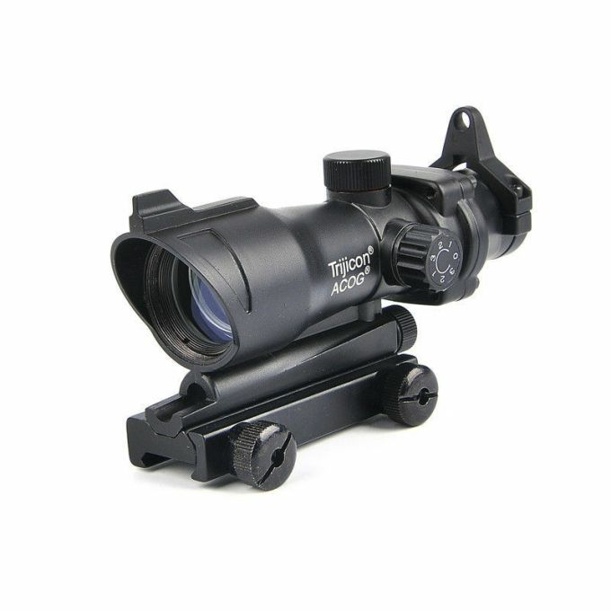 Acog Tactical 1x32 Red Green Dot Scope With Qd Mount For 20mm Rail Airsoftbuy