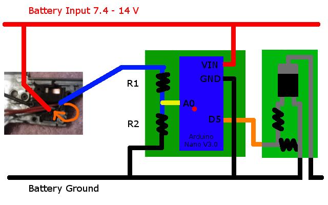 airsoft mos fet wiring diagram