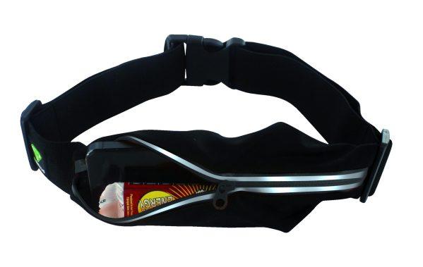 ceinture running 1 poche noir ouverte