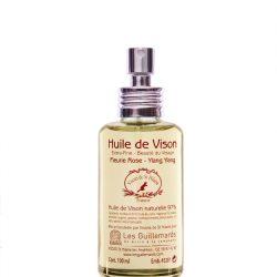 Huile de Vison / Natural mink oil  – Rose & Ylang Ylang – 50ml