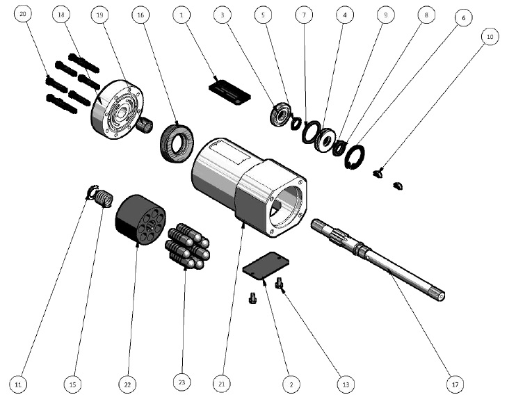 Kocsis B Series Hydraulic Starters [CMA]