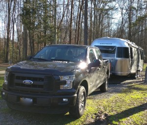 ford truck pulling airstream