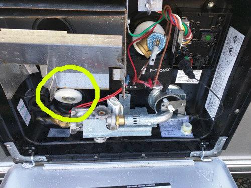 airstream hot water tank plug