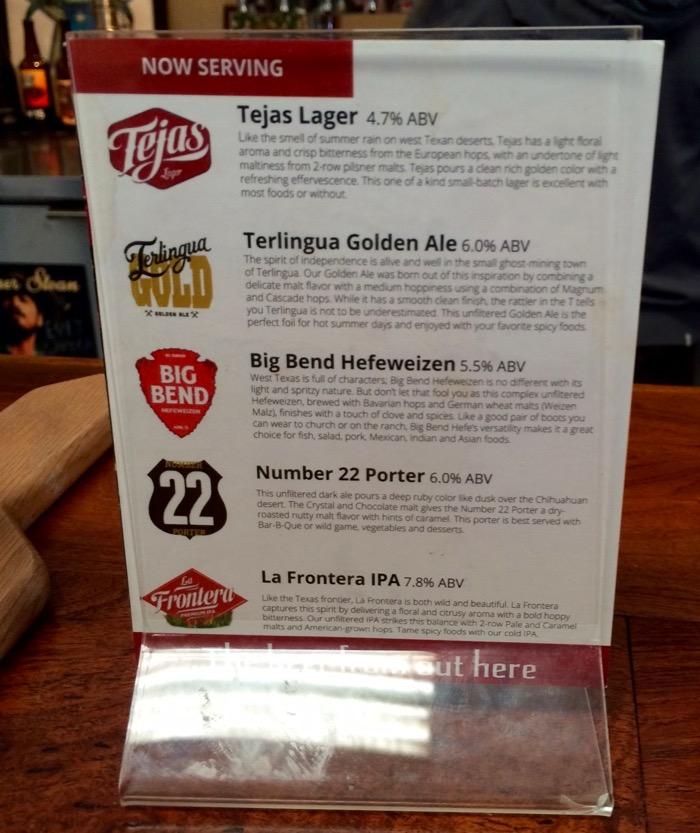 big bend brewing co beer list