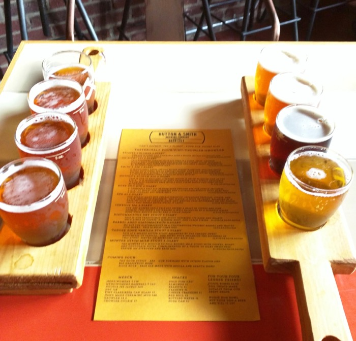 beer flights at hutton & smith