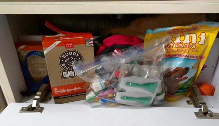 dog treats and supplies