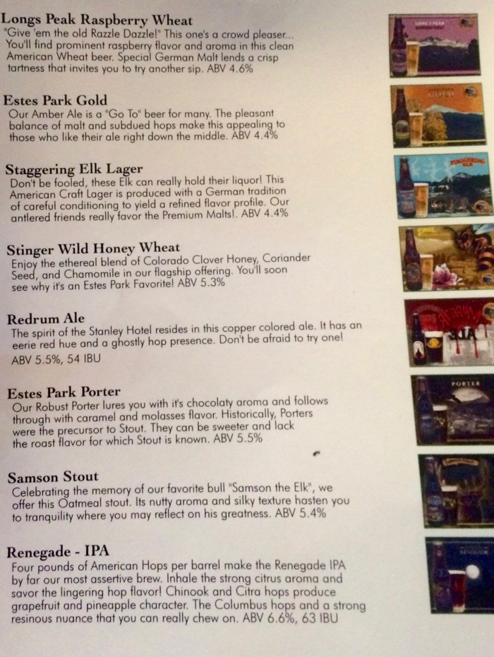 estes park brewery beer list