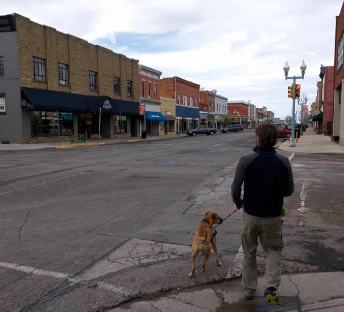 laramie downtown dog walk