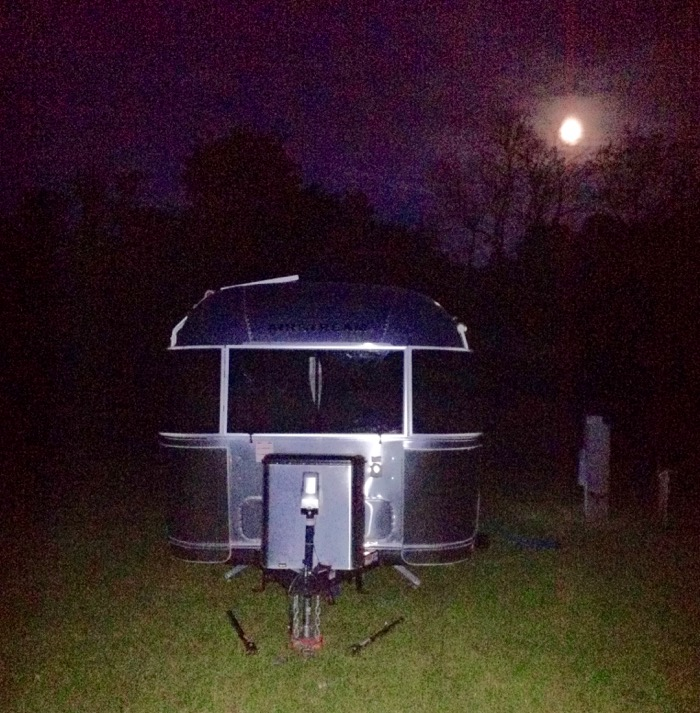 airstream and full moon