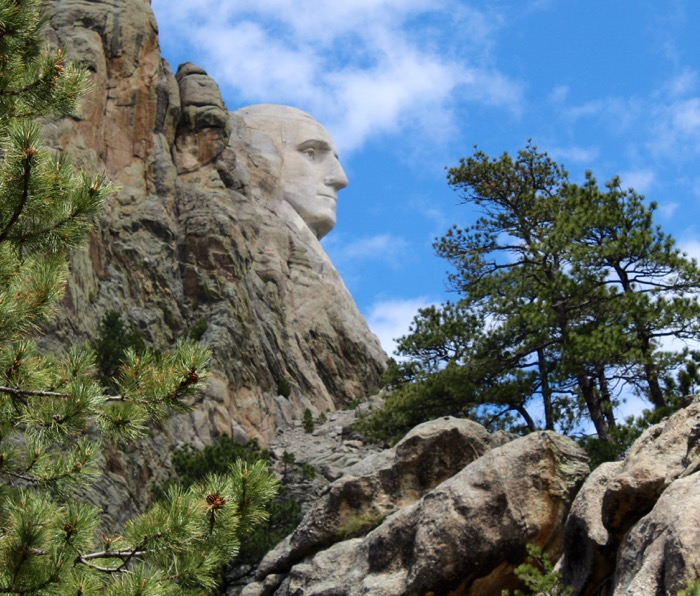 mount rushmore george profile