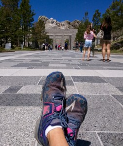 mount rushmore and running shoes