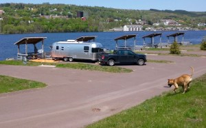 airstream at houghton city rv park