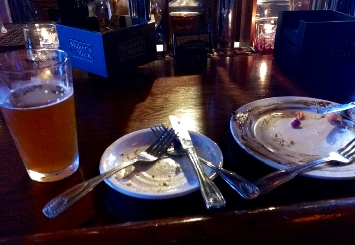 empty plates at the rickhouse bardstown