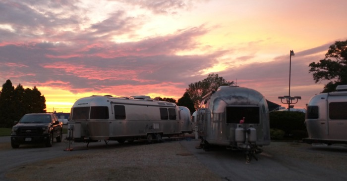 airstream factory sunset