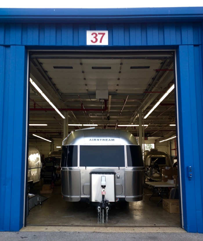 airstream in service bay